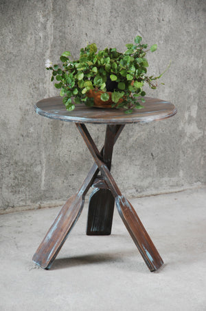 Cottage Boat Oar Accent Table