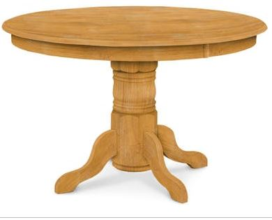 48 Round Pedestal Table Country Woods Furniture