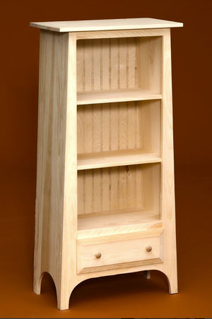Slant Bookcase W/Drawer