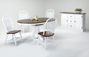 Farmhouse Table & Traditional Windsor Chair Set