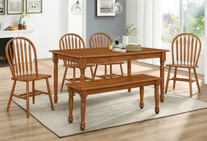 Farmhouse Leg Table Set