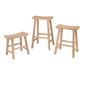 24 Saddle Stool Unfinished - Stool
