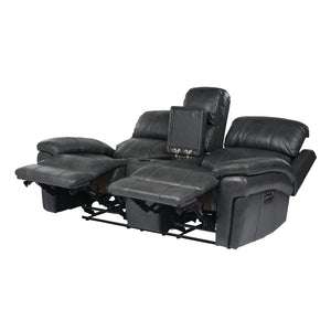3-PC Leather Set With Power Headrests