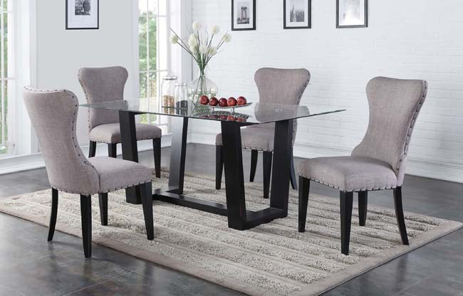 Ebony 5-PC Dining Room Set - Country Woods Furniture