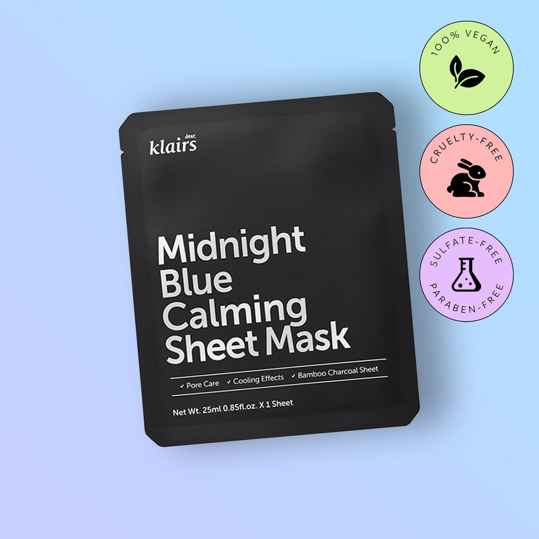 Masca faciala Dear,Klairs Midnight Blue Calming Sheet Mask 25ml