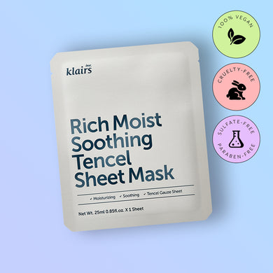 Masca faciala Dear,Klairs Rich Moist Soothing Tencel Sheet Mask 25ml