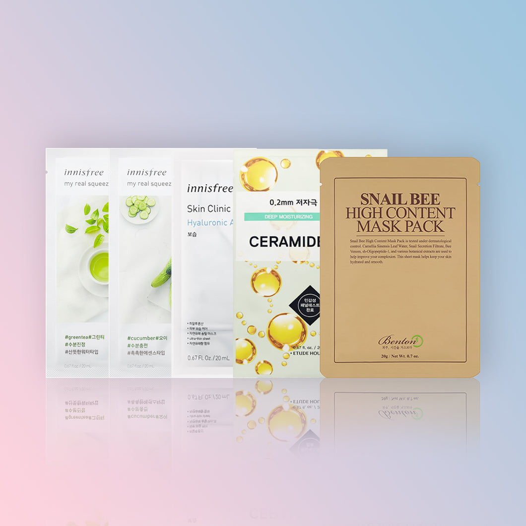 SET HIDRATANT (SHEET MASKS)