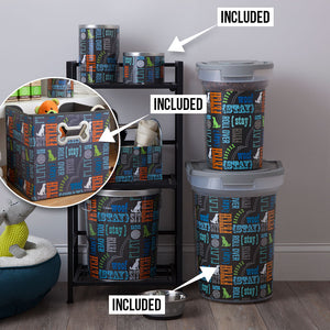 Pet Food & Toy Storage Starter Kit, Wordplay by Macbeth