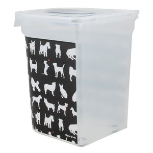 26 lb Pet Food Bin, Dog Silhouette