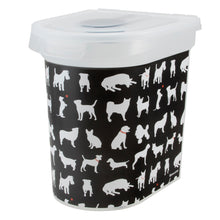 Load image into Gallery viewer, 26 lb Pet Food Bin, Dog Silhouette