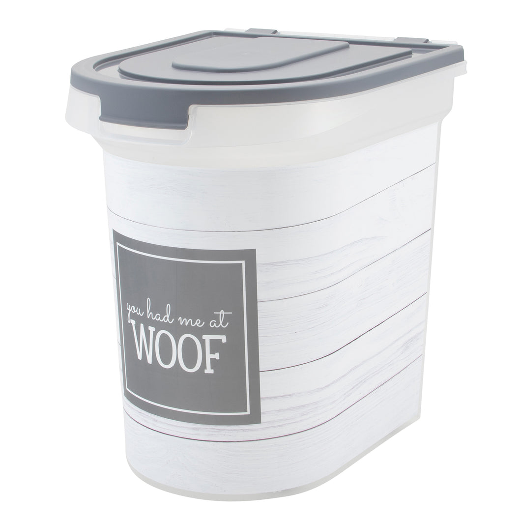 26 lb Pet Food Bin, Woof