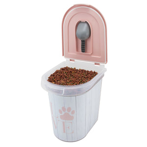 26 lb Pet Food Bin, Love