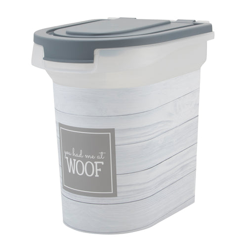 15 lb Pet Food Bin, Woof