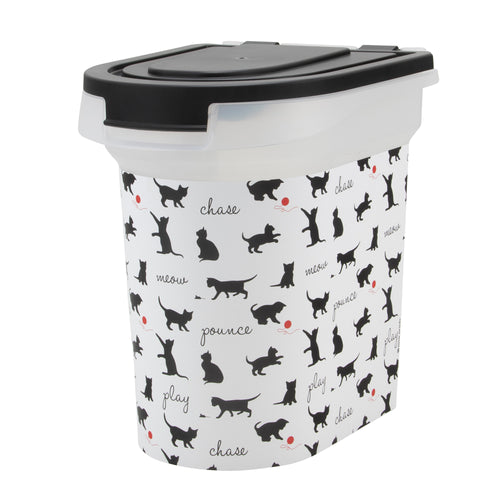 15 lb Pet Food Bin, Playful Cats