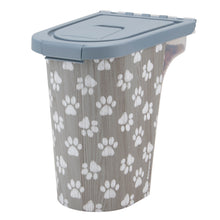 Load image into Gallery viewer, 7 lb Pet Food Bin, Pawprints