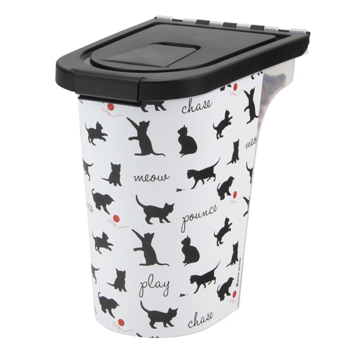 7 lb Pet Food Bin, Playful Cats