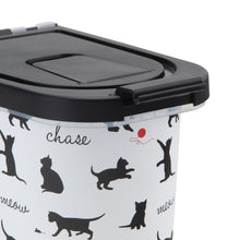 Load image into Gallery viewer, 7 lb Pet Food Bin, Playful Cats