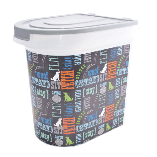 26 lb Pet Food Bin, Wordplay by Macbeth