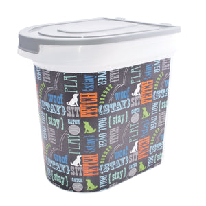 26 lb Pet Food Bin, Wordplay by Macbeth Collection