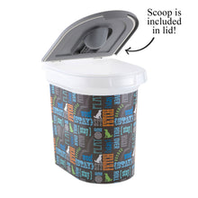 Load image into Gallery viewer, 26 lb Pet Food Bin, Wordplay by Macbeth Collection