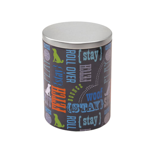 Large Treat Tin, Wordplay by Macbeth Collection