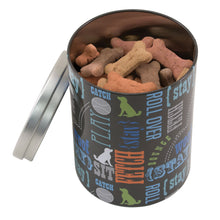 Load image into Gallery viewer, Large Treat Tin, Wordplay by Macbeth