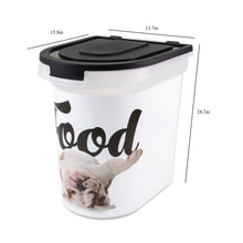 Load image into Gallery viewer, 26 lb Pet Food Bin, Bulldog