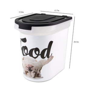 26 lb Pet Food Bin, Bulldog