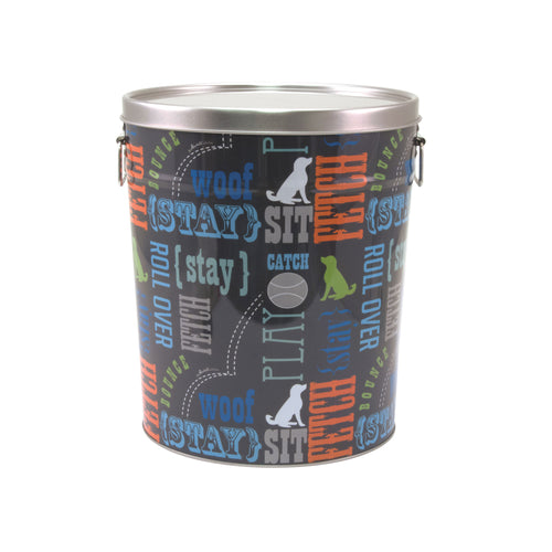 Tin Pet Food Container, Wordplay by Macbeth Collection
