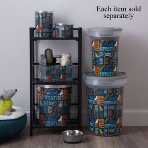 Tin Pet Food Container, Wordplay by Macbeth