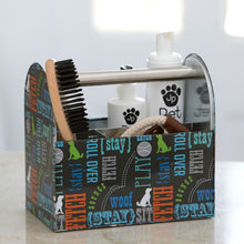 Load image into Gallery viewer, Tin Pet Grooming Caddy, Wordplay by Macbeth Collection