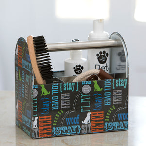 Tin Pet Grooming Caddy, Wordplay by Macbeth Collection