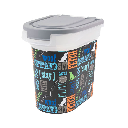 15 lb Pet Food Bin, Wordplay by Macbeth