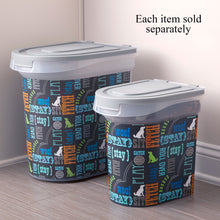 Load image into Gallery viewer, 15 lb Pet Food Bin, Wordplay by Macbeth