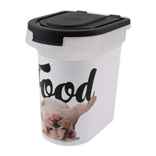 Load image into Gallery viewer, 15 lb Pet Food Bin, Bulldog