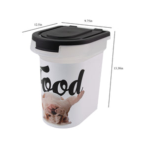 15 lb Pet Food Bin, Bulldog