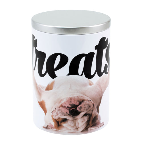 Large Treat Tin, Bulldog