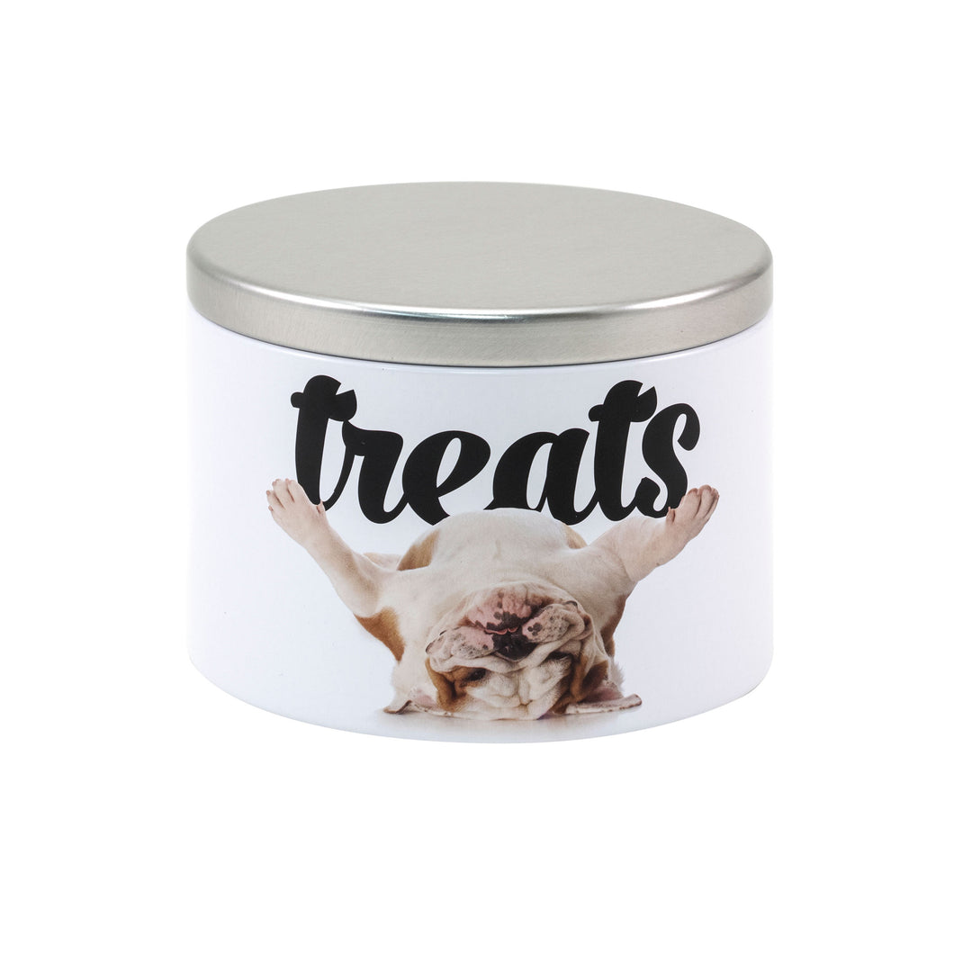 Small Treat Tin, Bulldog