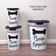 Load image into Gallery viewer, 26 lb Pet Food Bin, Bone Appetit
