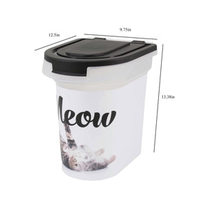 15 lb Pet Food Bin, Meow Kitty