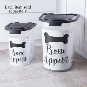 15 lb Pet Food Bin,  Bone Appetit