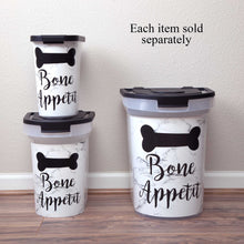 Load image into Gallery viewer, 15 lb Pet Food Bin,  Bone Appetit