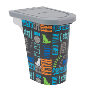 7 lb Pet Food Bin, Wordplay by Macbeth
