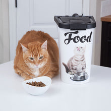 Load image into Gallery viewer, 7 lb Pet Food Bin, Cat Bowl