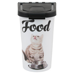 7 lb Pet Food Bin, Cat Bowl