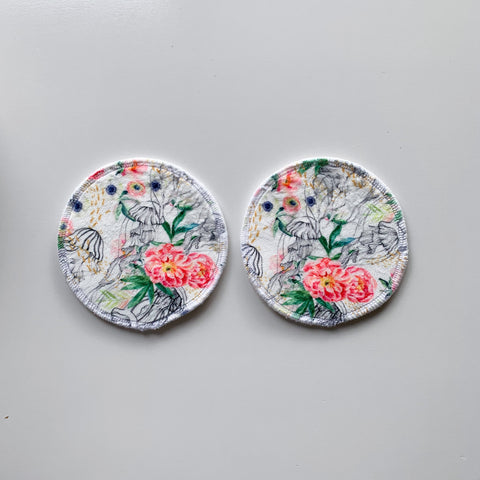 Large round pads - floral jellyfish