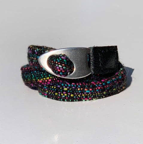 Wrap scrap cuff bracelet: Robbins Nest Weaving Black Opal