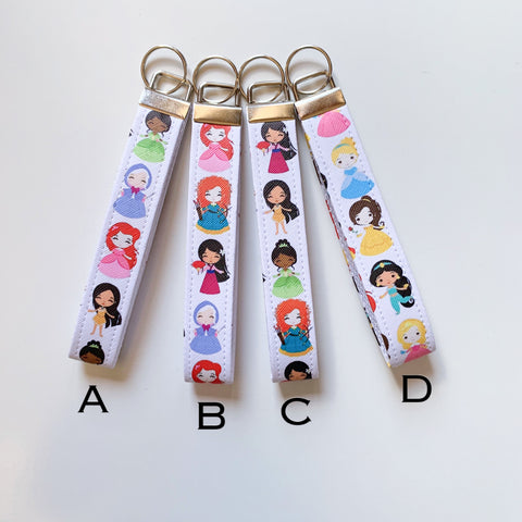 Disney Princess inspired keyfobs
