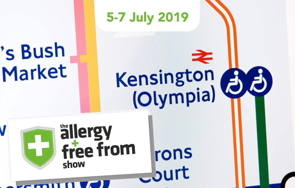 We're heading to Olympia for the Allergy & Free From Show