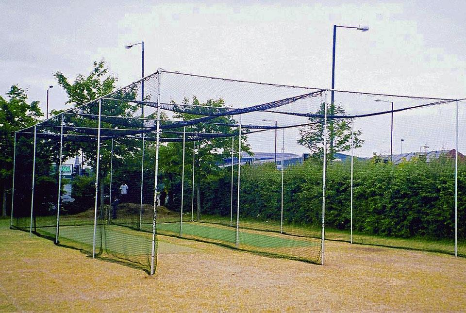 2 Bay Fixed Frame Cricket Cage & Net [7.32m wide]